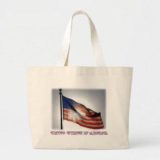 Graphiti Flag Tote Bags