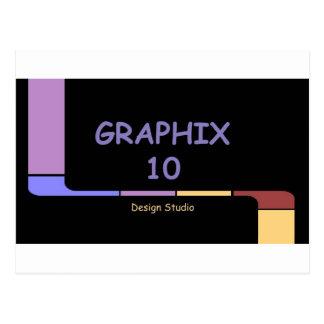 Graphix 10 Design Studio Logo Postcard