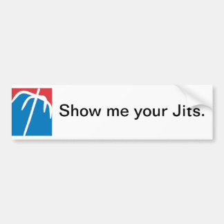 Grapple - American, Show me your Jits. Bumper Sticker
