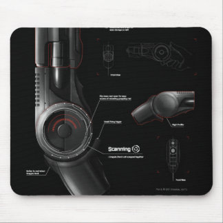 Grappling Gun Diagram Mouse Pad