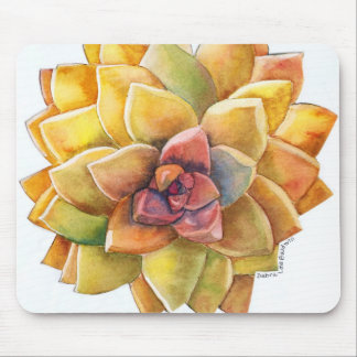 Graptopetalum watercolor mousepad