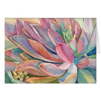 Graptoveria watercolor by Debra Lee Baldwin Greeting Card