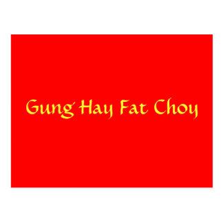 Grasa Choy del heno de Gung Tarjeta Postal
