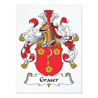 Graser Family Crest 6.5x8.75 Paper Invitation Card