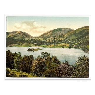 Grasmere, del banco rojo, distrito del lago, cl de postales