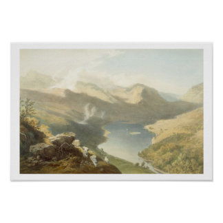 Grasmere from Langdale Fell, from 'The English Lak Poster