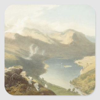 Grasmere from Langdale Fell, from 'The English Lak Square Sticker