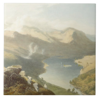 Grasmere from Langdale Fell, from 'The English Lak Tile