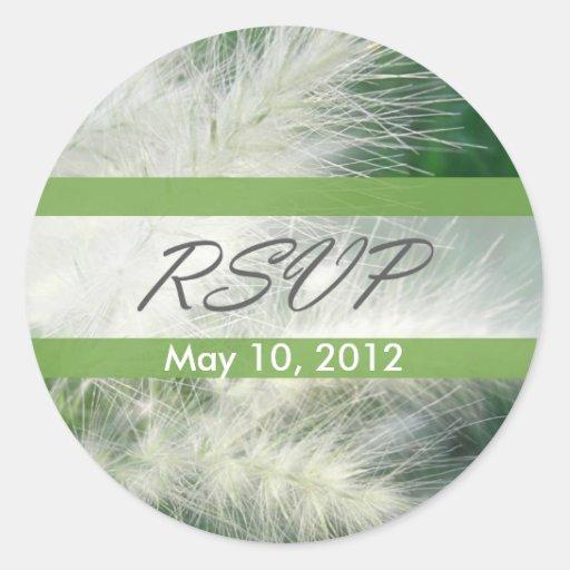 Grass 2 RSVP Wedding Classic Round Sticker