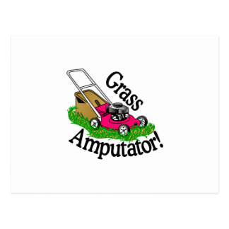Grass Amputator Postcard