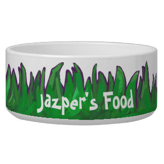Grass and Baseball Personal Pet Bowl