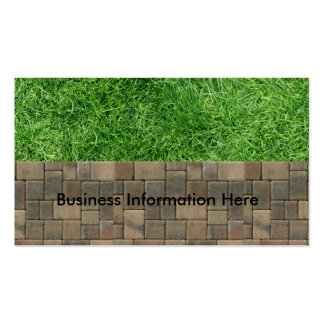 grass and pavers business card template