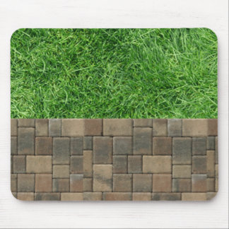 grass and pavers mouse pad