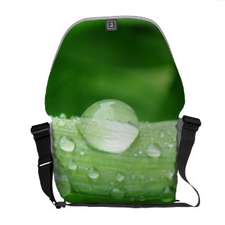 Grass and Rain Drops Courier Bags