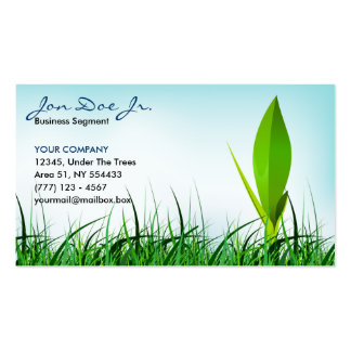 grass and sprout business card