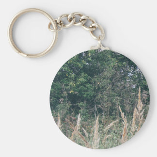 Grass And Trees Nature Pattern Keychain