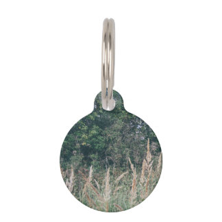 Grass And Trees Nature Pattern Photo Template Pet Tag