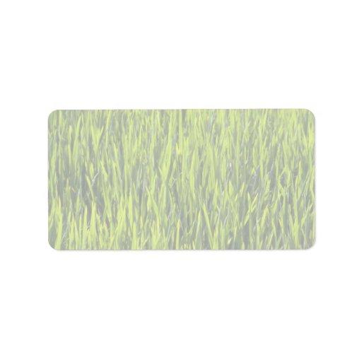 Grass blades address label