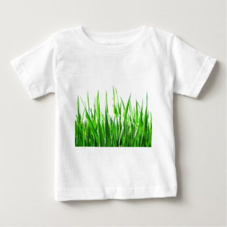 Grass Blades Nature Abstract Shapes Fashion style Baby T-Shirt