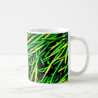 Grass Blades Nature Abstract Shapes Fashion style Coffee Mug