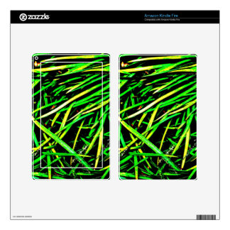 Grass Blades Nature Abstract Shapes Fashion style Kindle Fire Decals