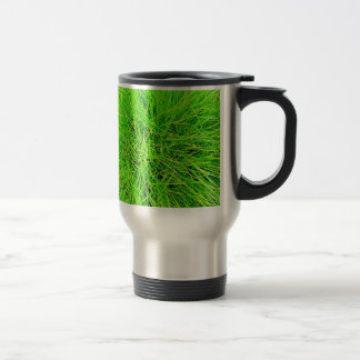 Grass Blades Nature Abstract Shapes Fashion style Travel Mug