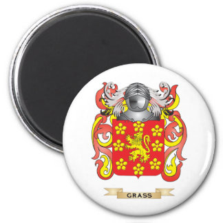 Grass Coat of Arms (Family Crest) 2 Inch Round Magnet
