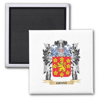 Grass Coat of Arms - Family Crest 2 Inch Square Magnet