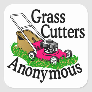 Grass Cutters Square Sticker