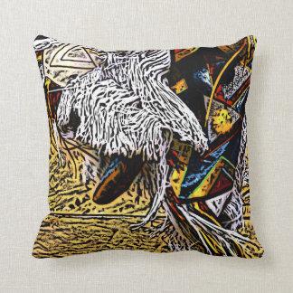 Grass Dancer Black Back Pillow