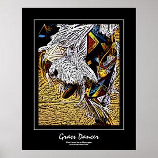Grass Dancer Black Border Poster
