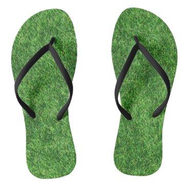 Beach Themed Grass Design Flip Flops