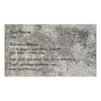 Grass Dry And Stony Ground Close Up Double-Sided Standard Business Cards (Pack Of 100)