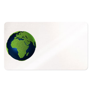 Grass Earth With Blue Oceans - Africa, 3d Business Card