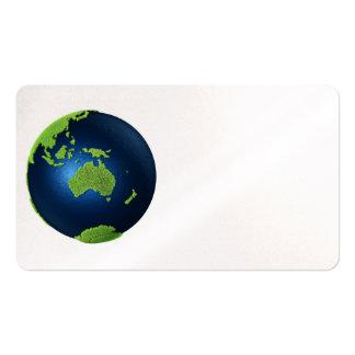 Grass Earth With Blue Oceans - Australia, 3d Business Card