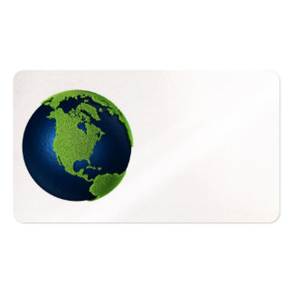 Grass Earth With Blue Oceans - North America, 3d Business Card