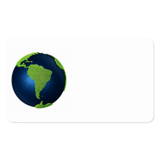 Grass Earth With Blue Oceans - South America, 3d Business Card