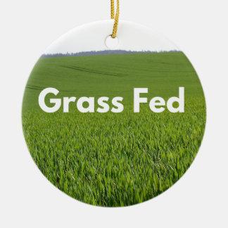 Grass Fed Ceramic Ornament