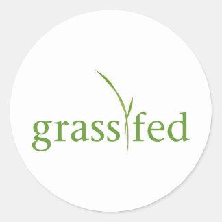 Grass Fed Classic Round Sticker