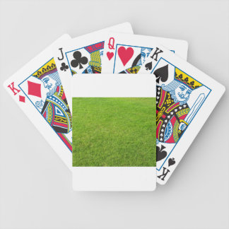 Grass field bicycle playing cards
