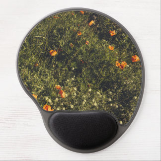 Grass Field With Wild Flowers and Poppies Gel Mouse Pad