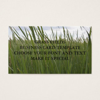 GRASS FIELDS BUSINESS CARD TEMPLATE