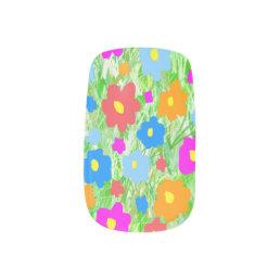 Grass Flower Power Minx Nail Wraps