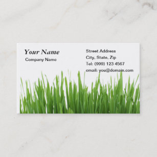 Gardening business cards zazzle grass gardening business card fbccfo Gallery