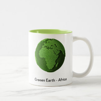 Grass Globe - Africa Two-Tone Coffee Mug