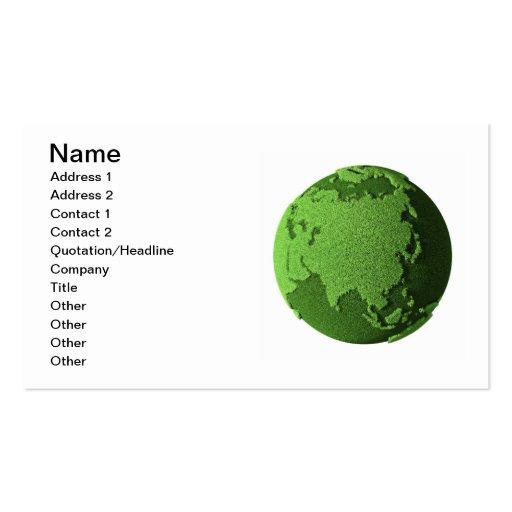 Grass Globe - Asia Business Cards