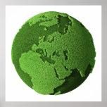 Grass Globe - Europe Posters