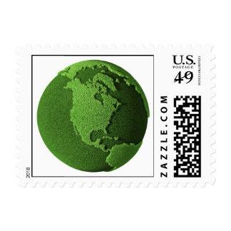 Grass Globe - North America Postage