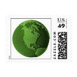Grass Globe - North America Postage Stamp