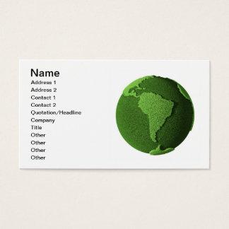Grass Globe - South America Business Card